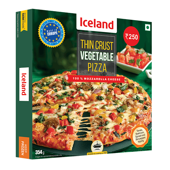 Thin Crust Vegetable Pizza