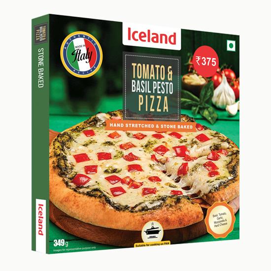Tomato & Basil Pesto Pizza